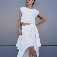 Extravagant Loose Off White Skirt