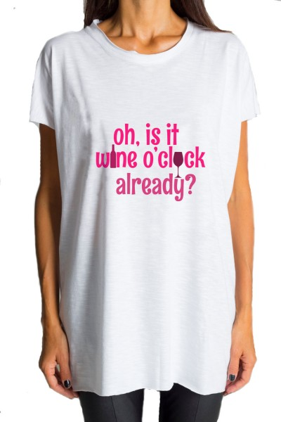 White T- shirt  Wine O'clock A224000161