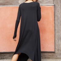 Black Loose Tunic Dress