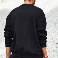 Black Soft Long Sleeve Sweatshirt