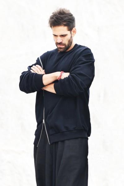 Black Soft Long Sleeve Sweatshirt A08549M