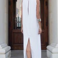 Sexy Maxi White Dress A03489