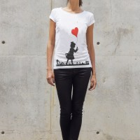 Printees - White Cotton Balloon girl T-shirt A224330350