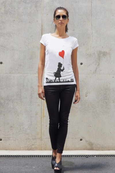 White Cotton Balloon girl T-shirt A224330350