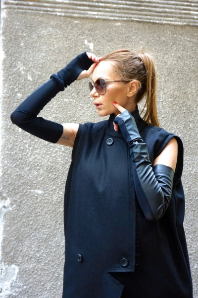 Black Sexy Sleeveless Gloves