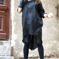 Black Extravagant Linen Shirt