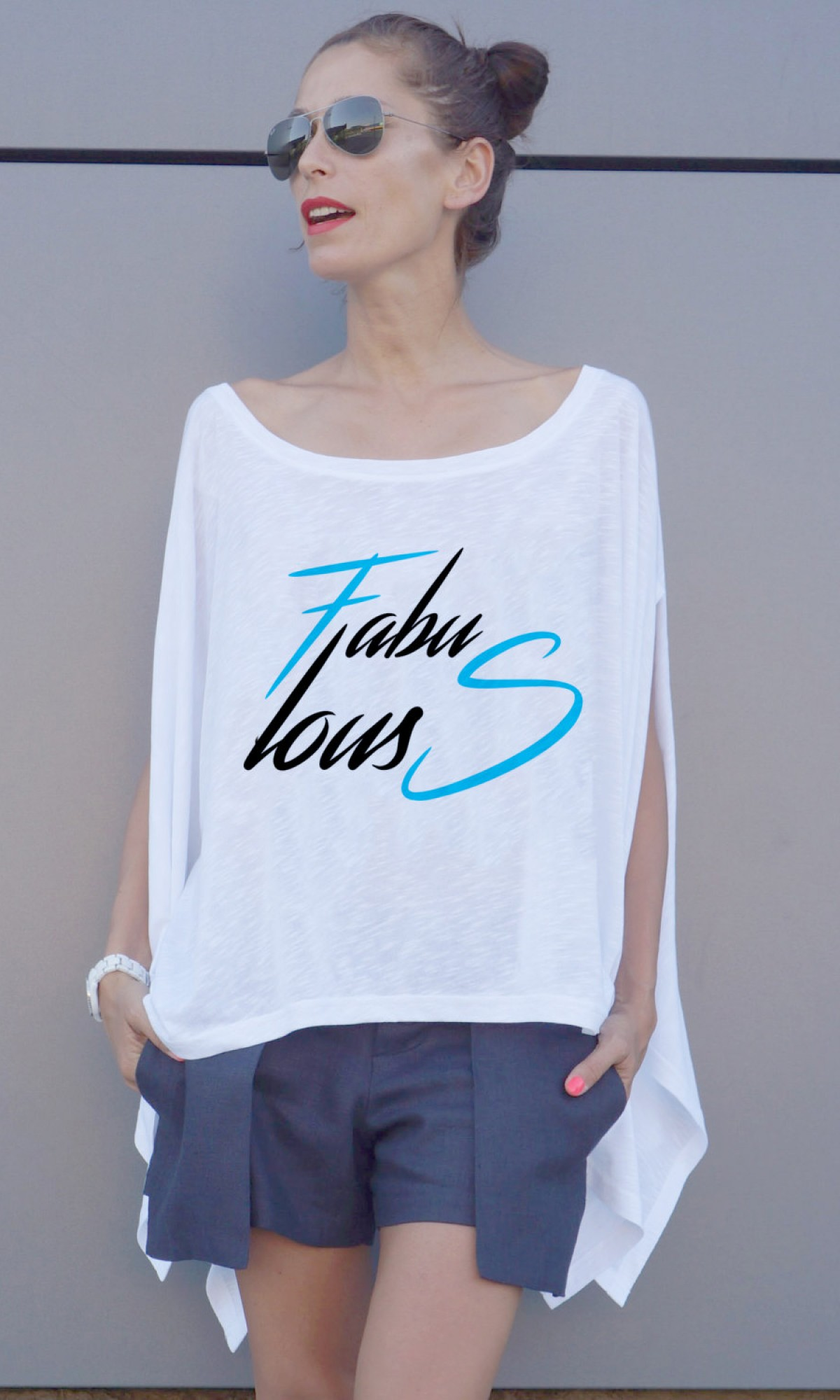 Printees - Loose white Fabulous tunic А124510341