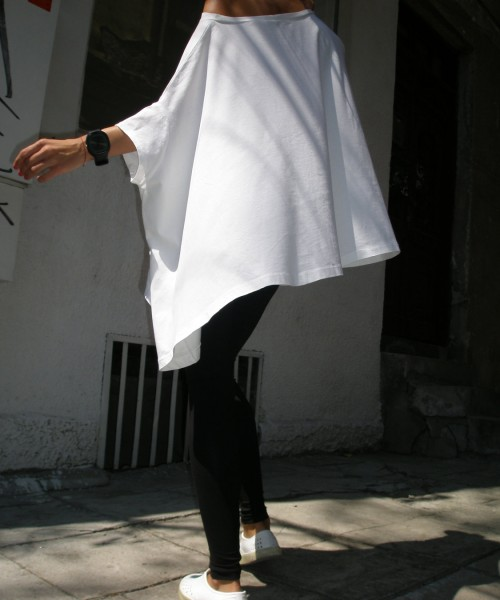 Loose Floaty White Top A01048