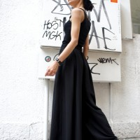 Pants - Wide Leg Black Pants A05046