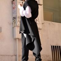 Black Cashmere Sleeveless Coat A06110