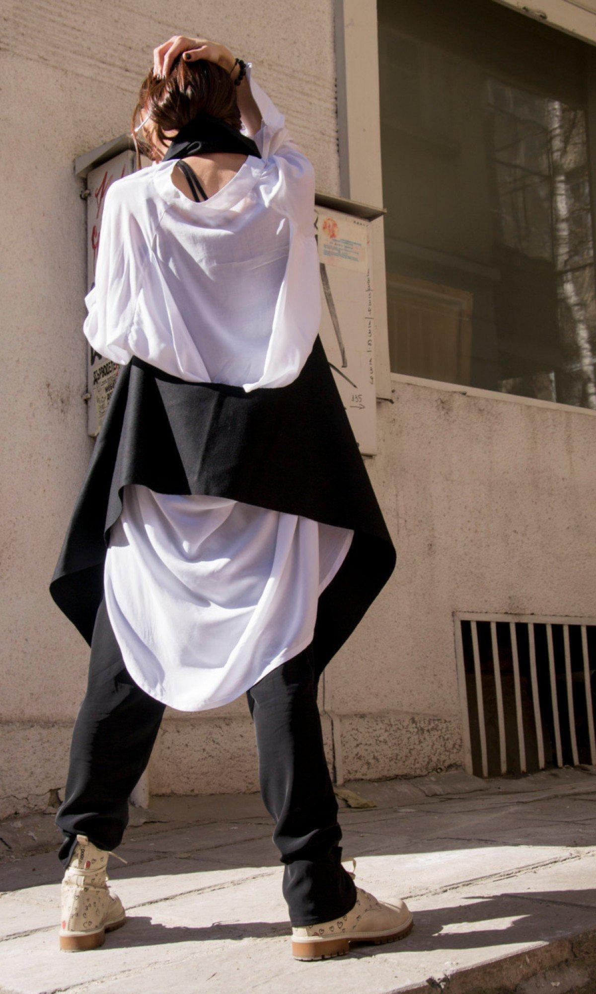Extravagant  Sleeveless Scarf Vest A06065