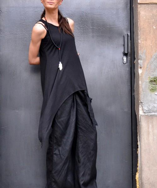Sexy Black Asymmetric Top A04127