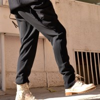 Casual Black Drop Crotch Pants A05026