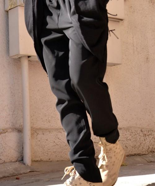 Casual Black Drop Crotch Pants A05026
