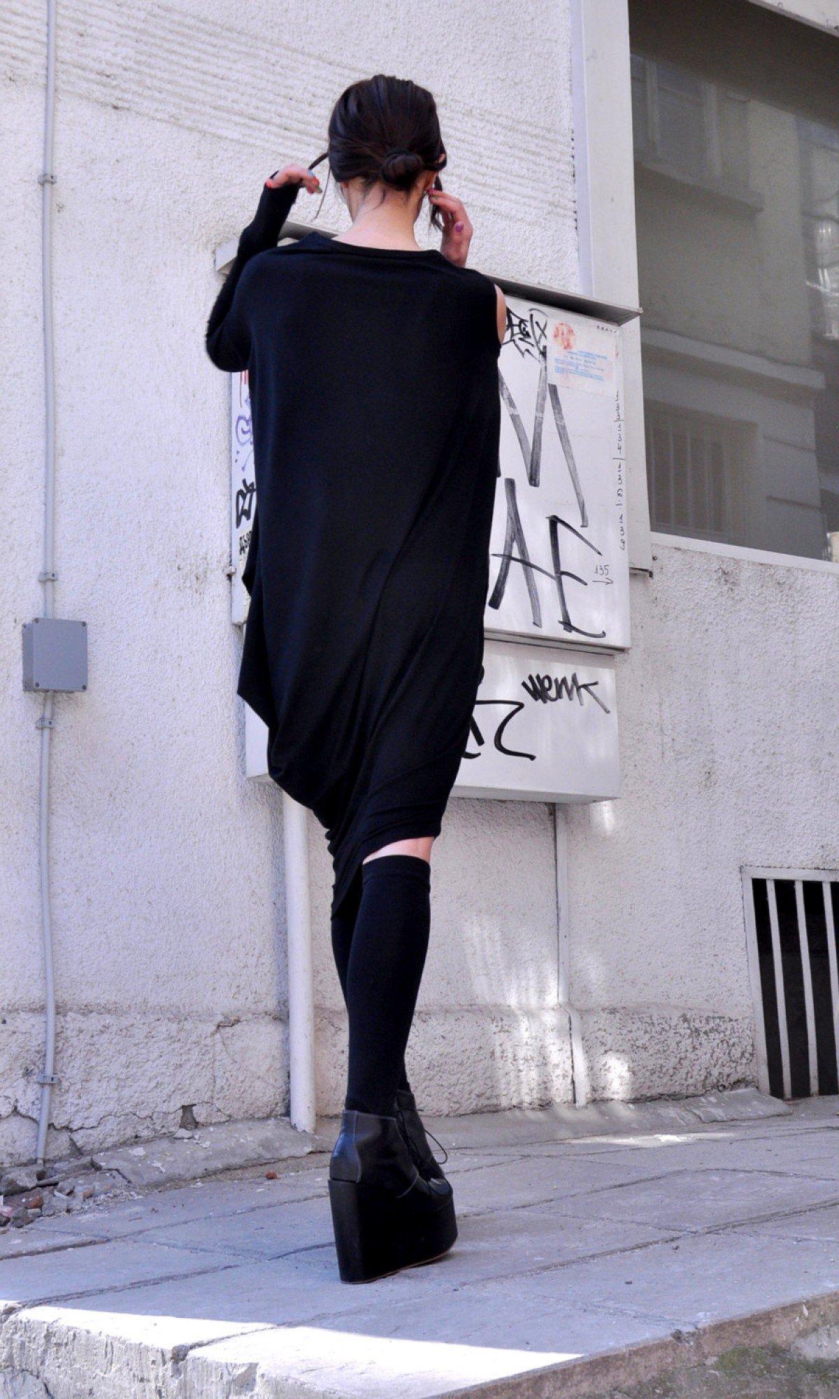 Oversize Black Tunic A02130