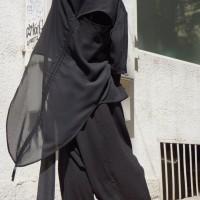 Pants - Loose Asymmetrical Black Pants A05133