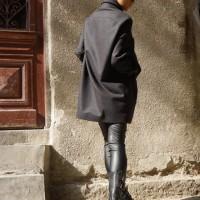 Grey Cashmere Coat A07158