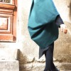 Coats - Winter Mustard Cashmere and Wool Poncho A01160