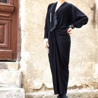 Asymmetric Black Dress