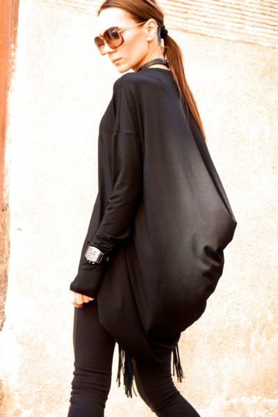 Sexy Casual Tunic With a Loose Back A02200