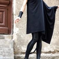 Tunics - Oversize Black Casual Top A02207