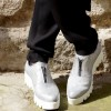 Sales - Silver Genuine Leather Sneakers A15217