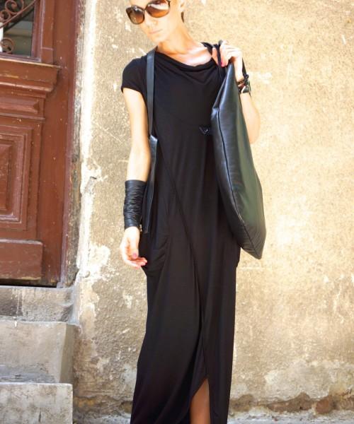 Black Sleeveless Maxi Dress A03251