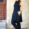 Black High Collar Knit Dress