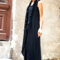 Black Loose Maxi Tank Top
