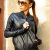 Extravagant Black Genuine Leather Coat