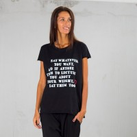 Eat whatever...Hot Black Print T-shirt