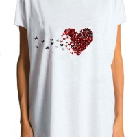 Printees - White Heart Printed Tee A224000134