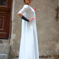 Dresses - Maxi Off-White Dress A03390