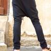 Loose Black Casual Drop Crotch Pants A05392