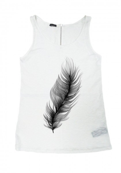 "White Gentle as a ""Feather "" Tank Top A044020323"