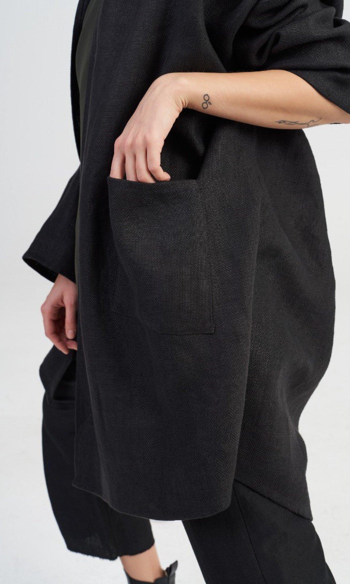 Straight Linen Blazer