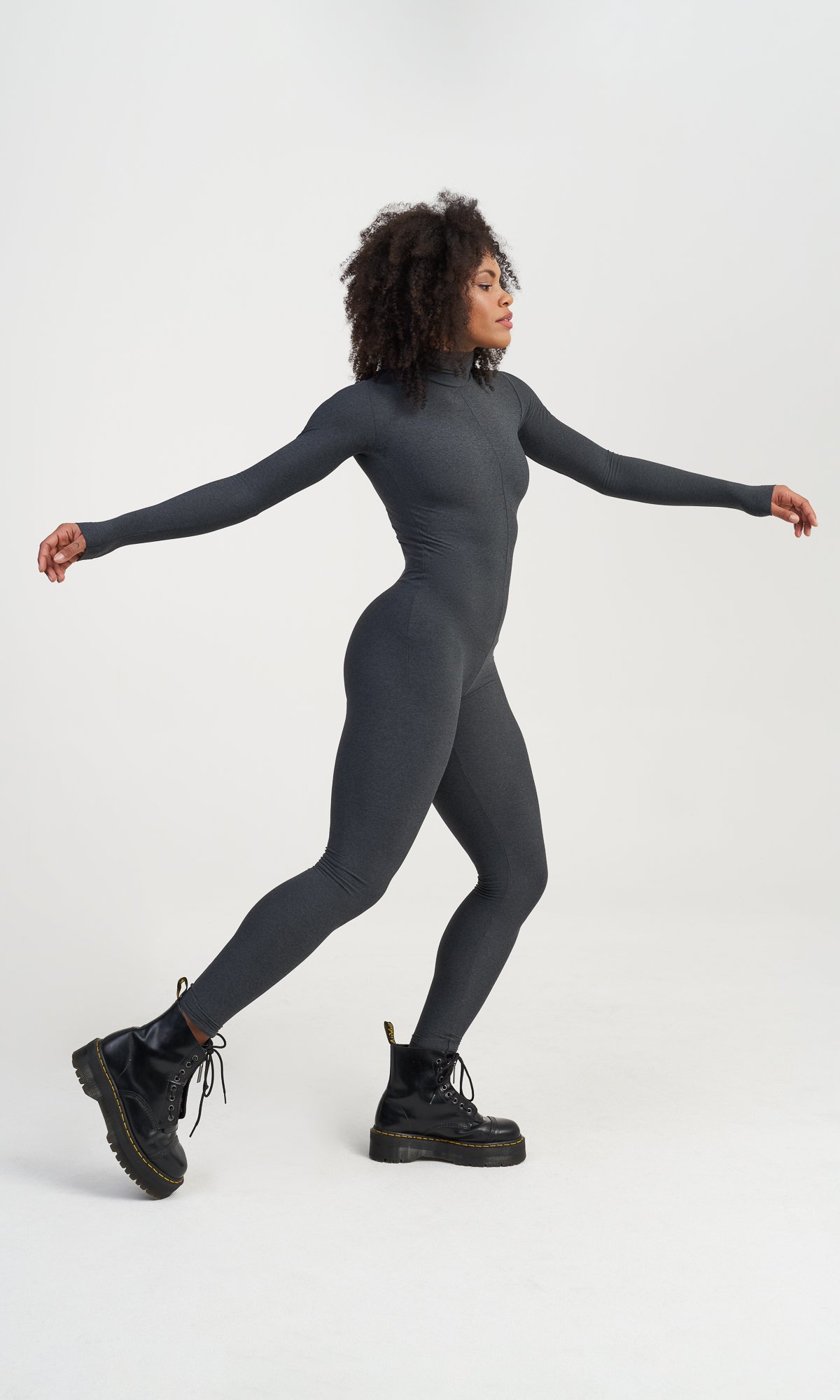 Fitted Elastic Activewear Jumpsuit