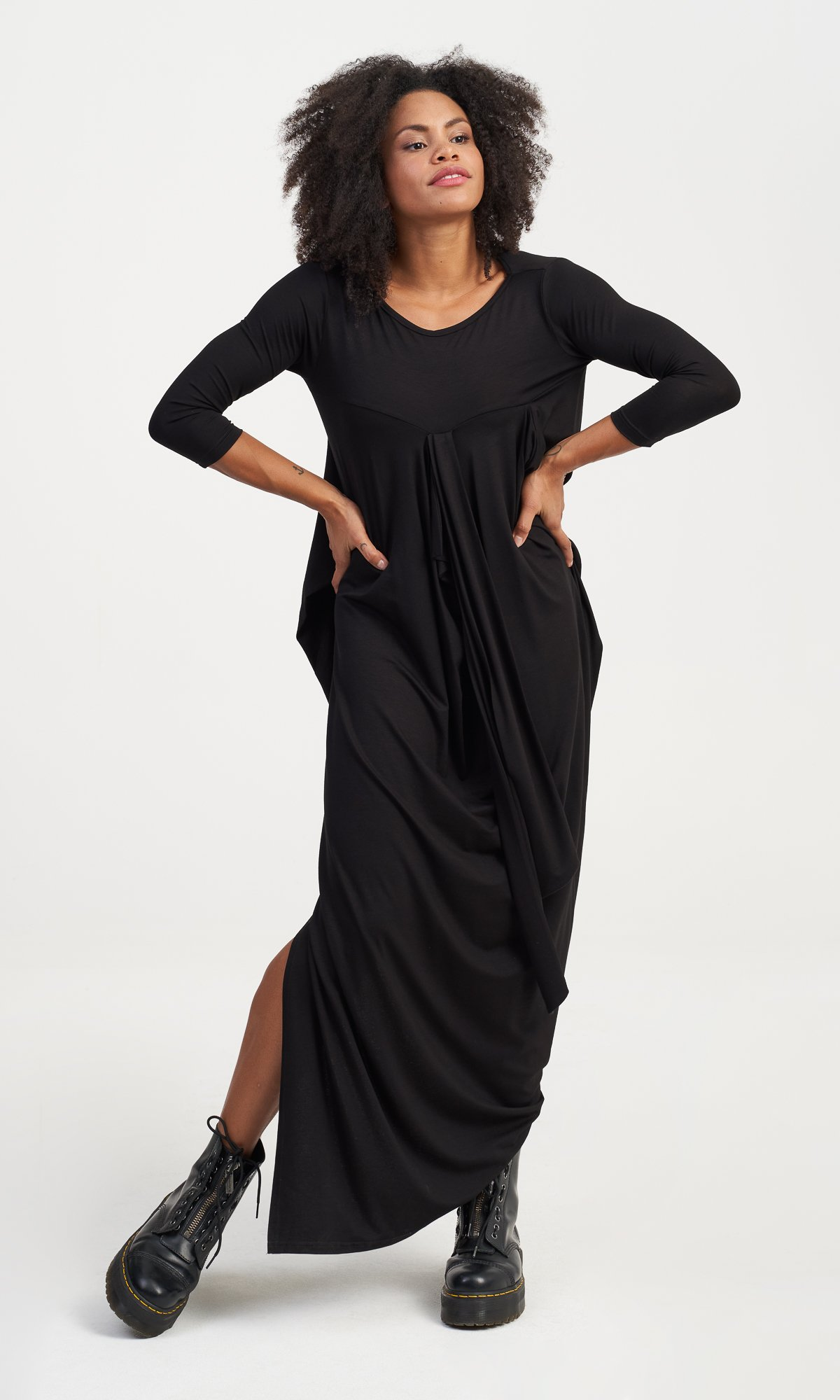 Long Asymmetric Dress with Side Slit