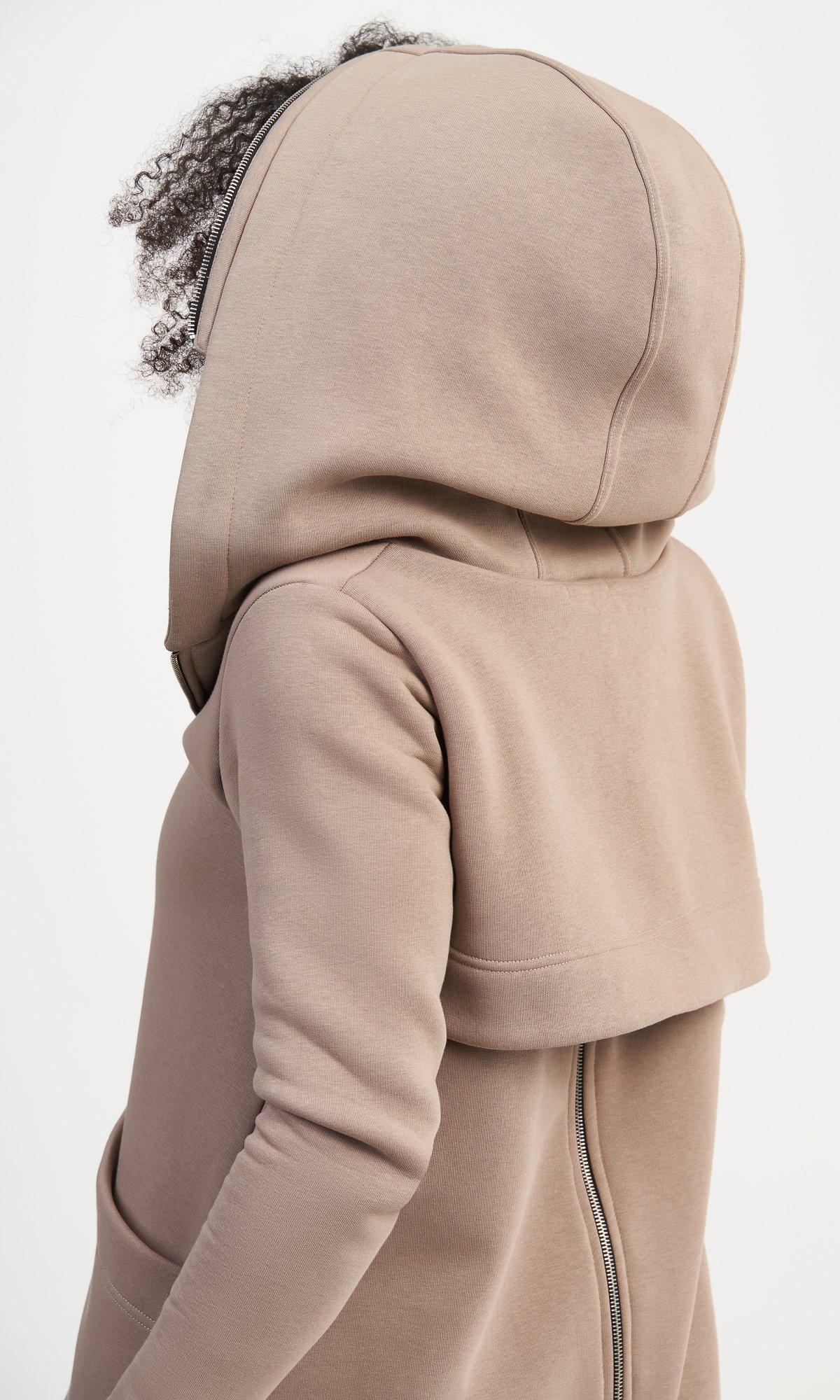 Long Zipper Hooded Sweatshirt