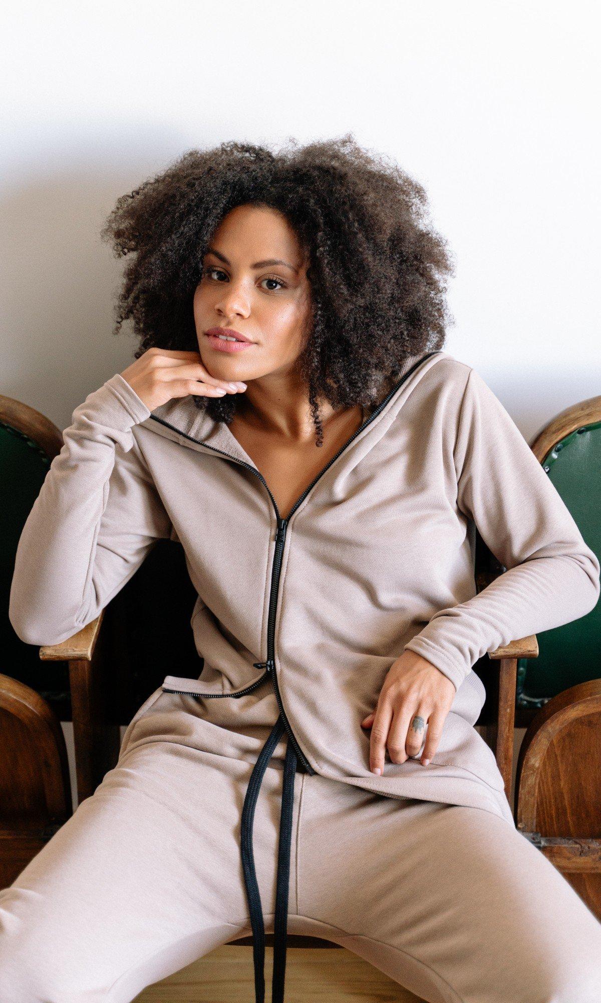 Asymmetric Zipper Hooded Sweatshirt