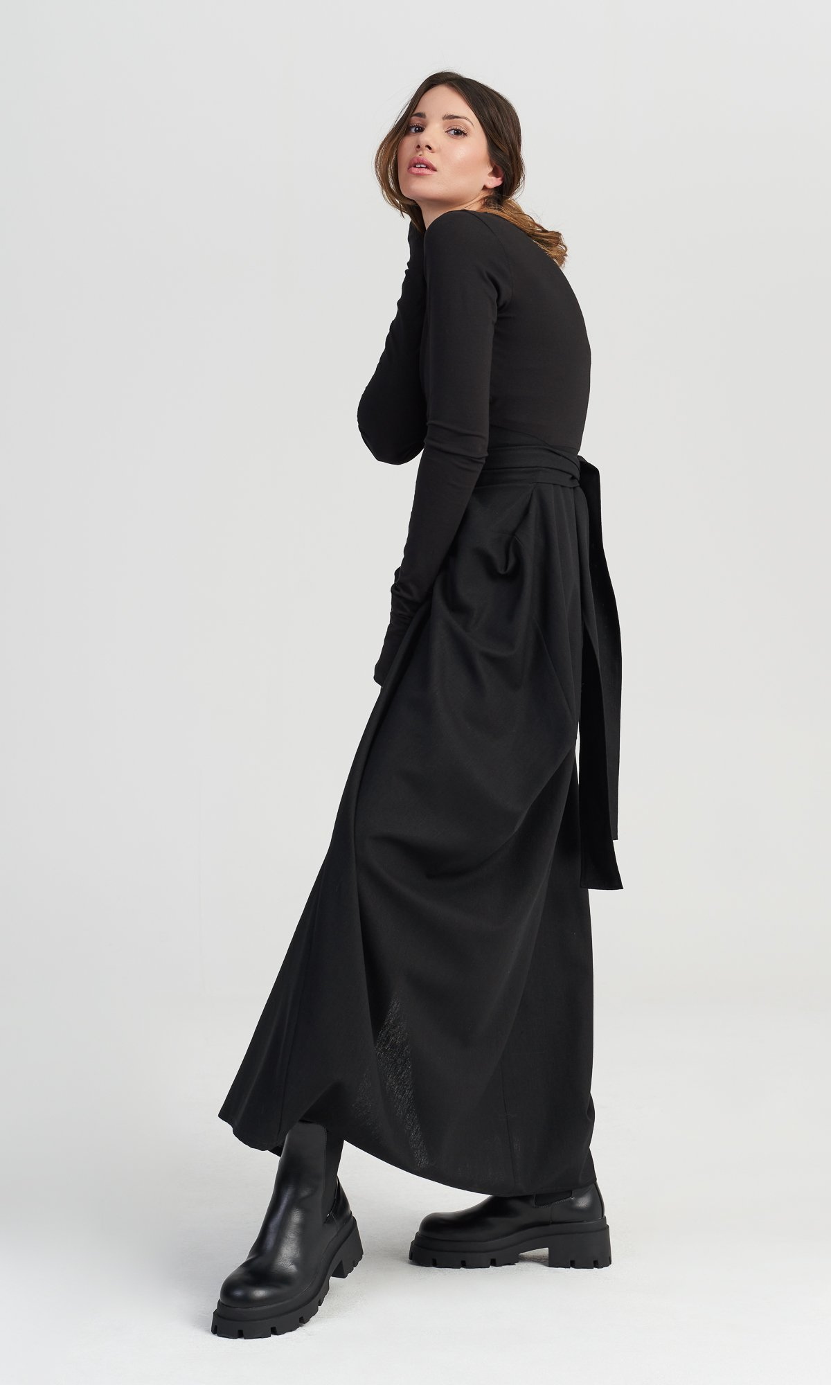 Maxi Dress with Belt