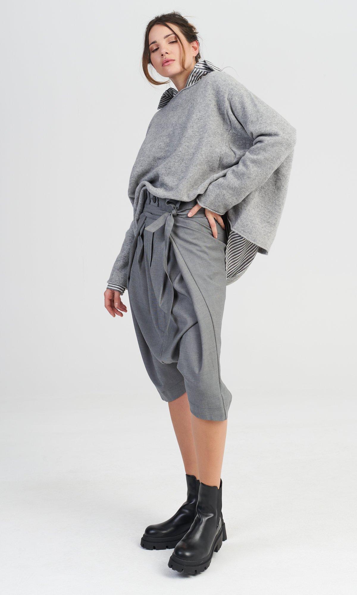 Drop Crotch Cold Wool Pants