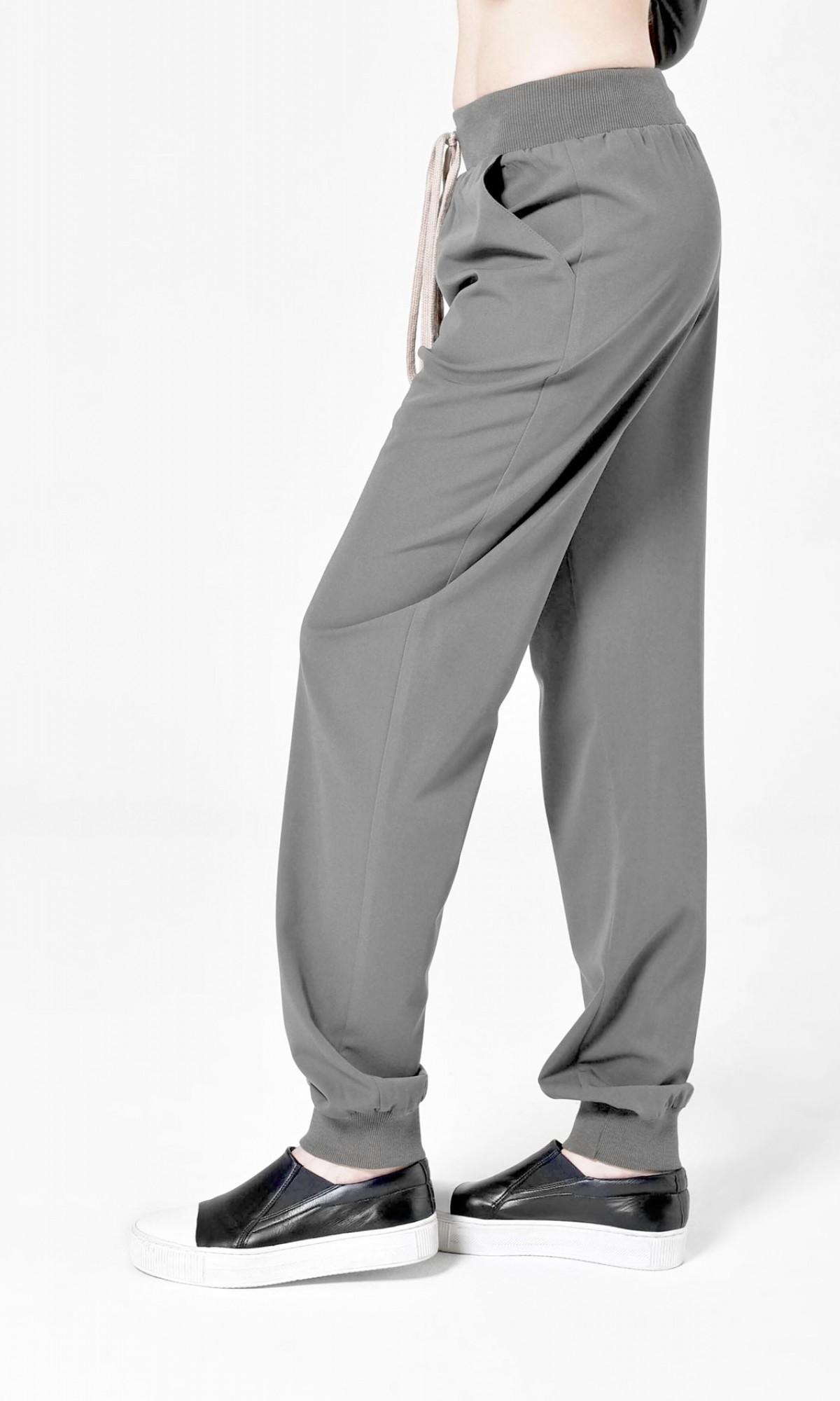 Straight Elastic Cuff Pants