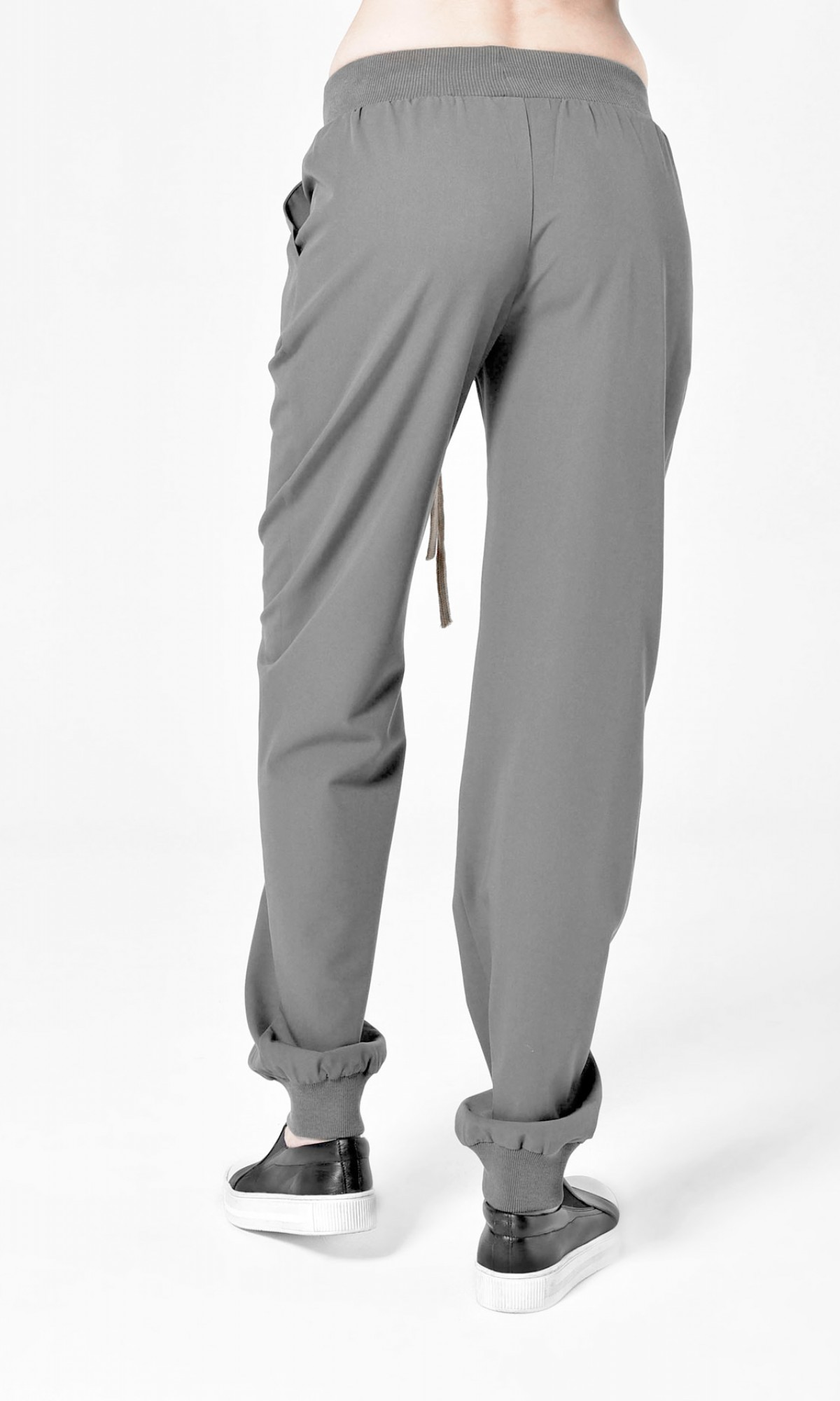 Straight Elastic Cuff Pants  A05798