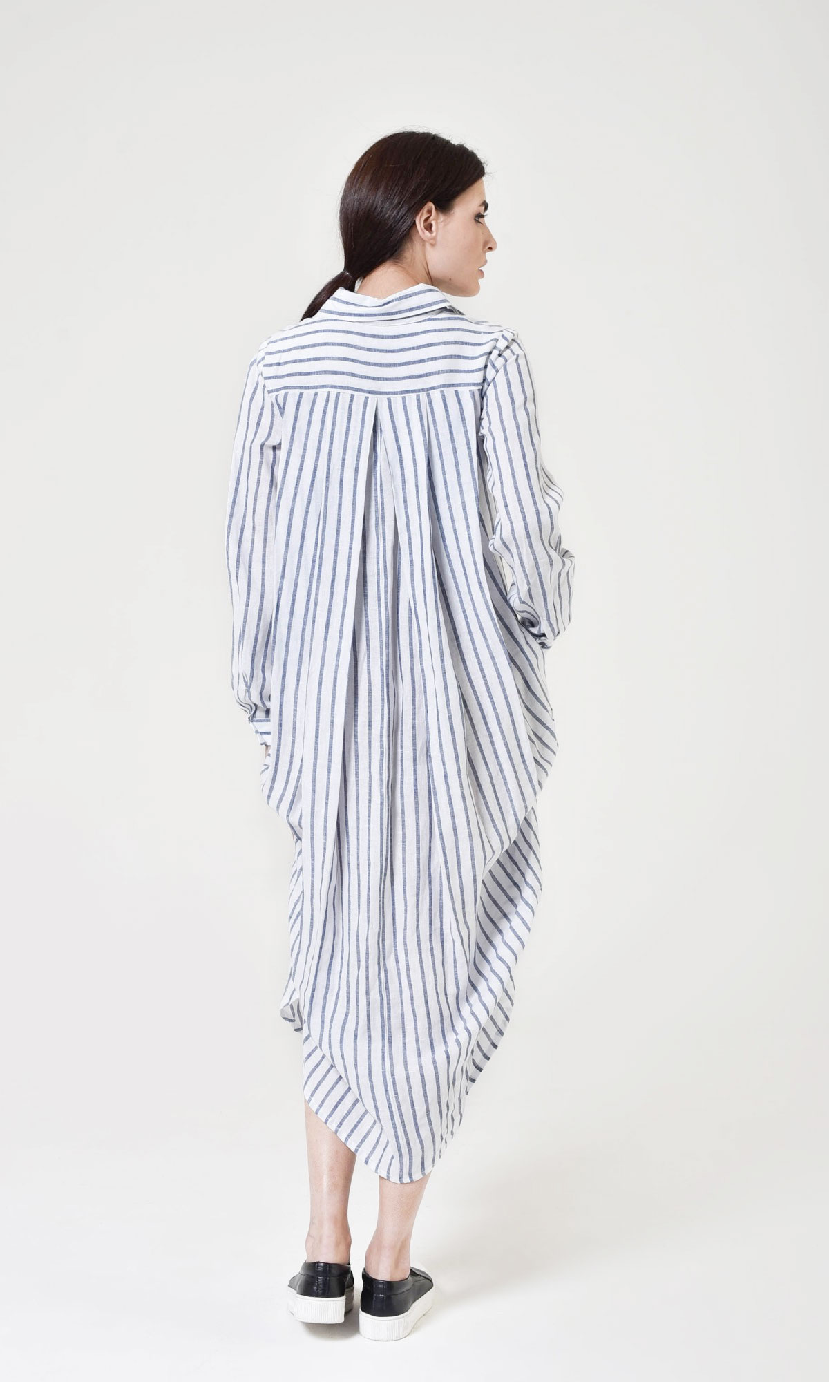 Elegant Stripped Shirt Dress A90276