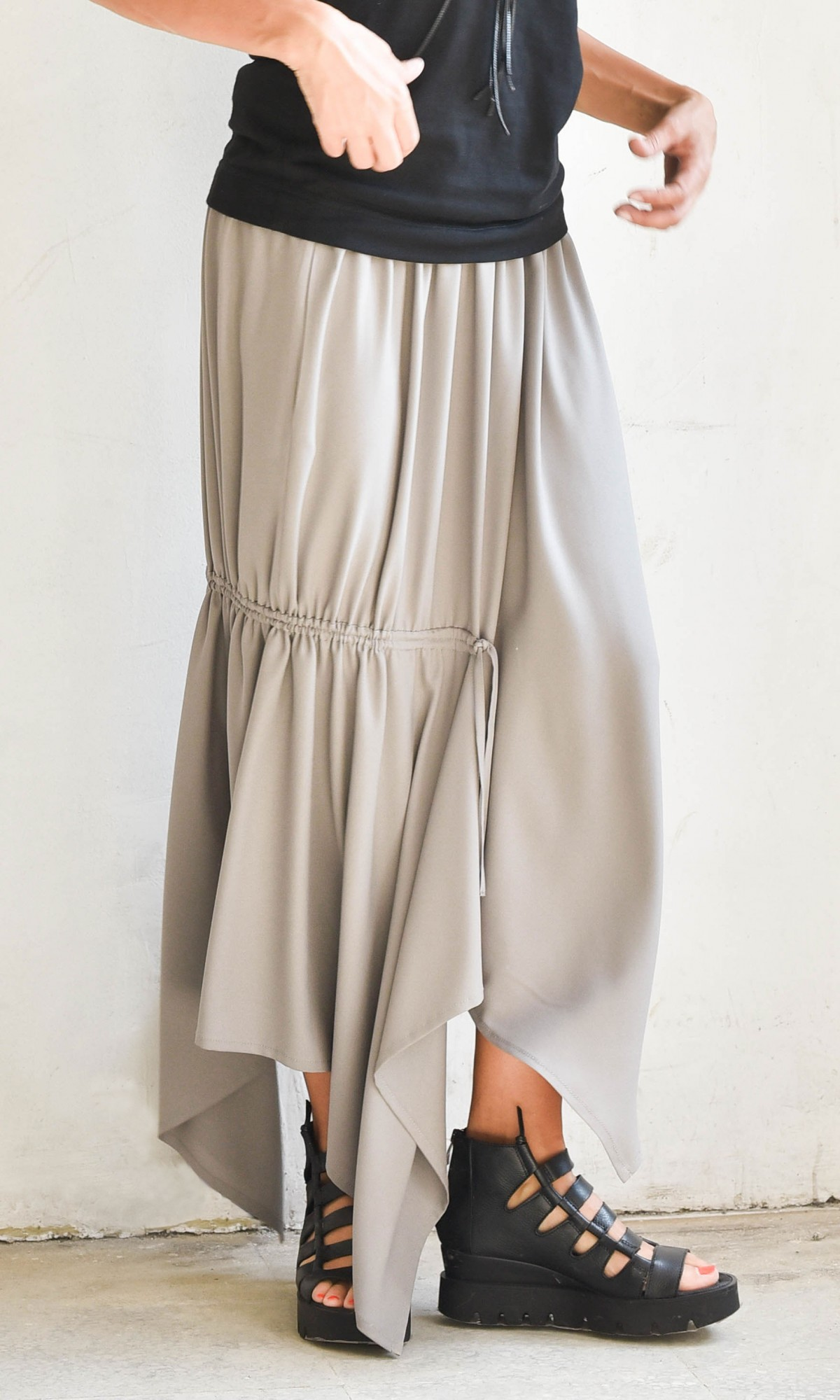 Asymmetric Elegant  Long Skirt A09369