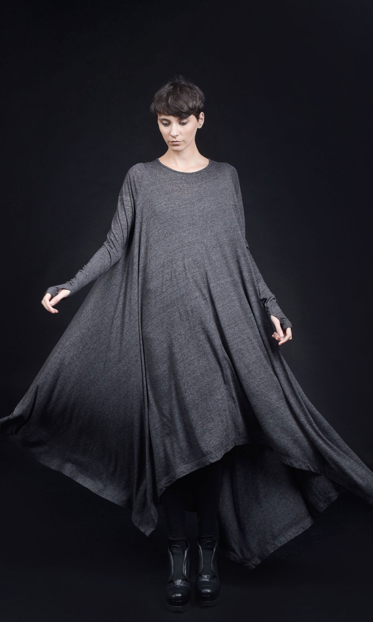 Stylish extra long tunic dress  A90389